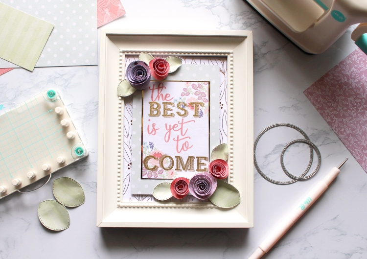 DIY Framed Home Decor with the Mini Precision Press and the Mini Evolution by Kimberly Crawford for We R Memory Keepers