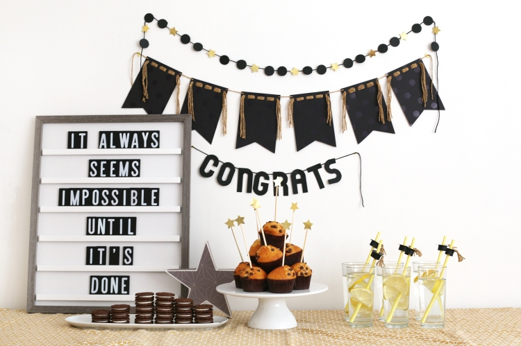 DIY Graduation Party Decor by Eva Pizarro for We R Memory Keepers