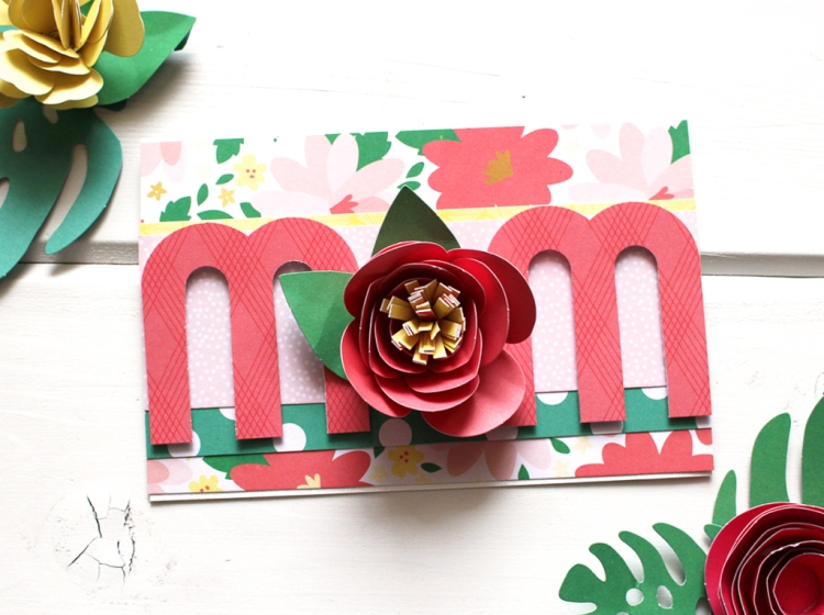 Handmade Mother's Day card with the We R Memory Keepers Mini Alphabet Punch Board