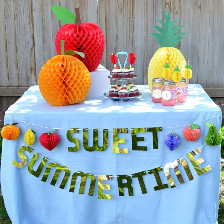 Sweet Summertime Party Decor