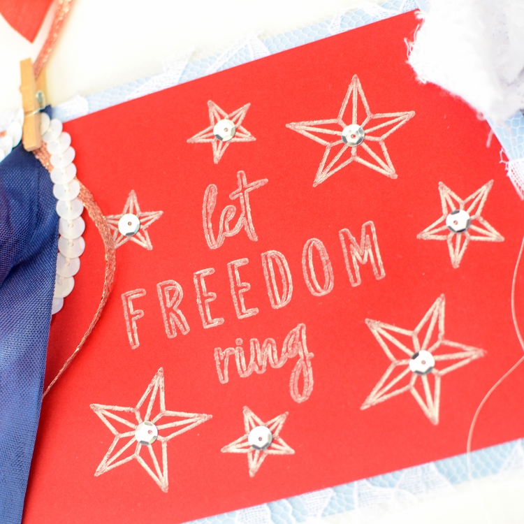 Foil Quill Patriotic Cards by Rebecca Luminarias for We R Memory Keepers