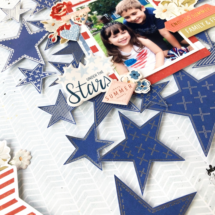 Patriotic Scrapbook Page with the Foil Quill by Enza Gudor for We R Memory Keepers