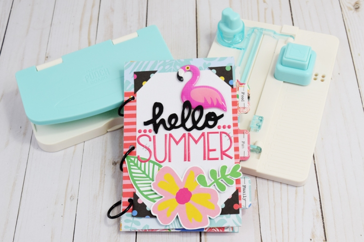 Summer Bucket List Journal featuring the Planner Punch Board and the Tab Punch Board by We R Memory Keepers
