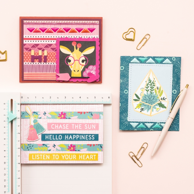 Handmade Cards featuring the Mini Laser Square by We R Memory Keepers