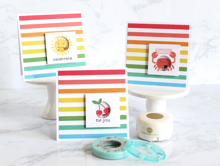 Shaker Cards with the Mini Clear Cut Punches by Kimberly Crawford for We R Memory Keepers