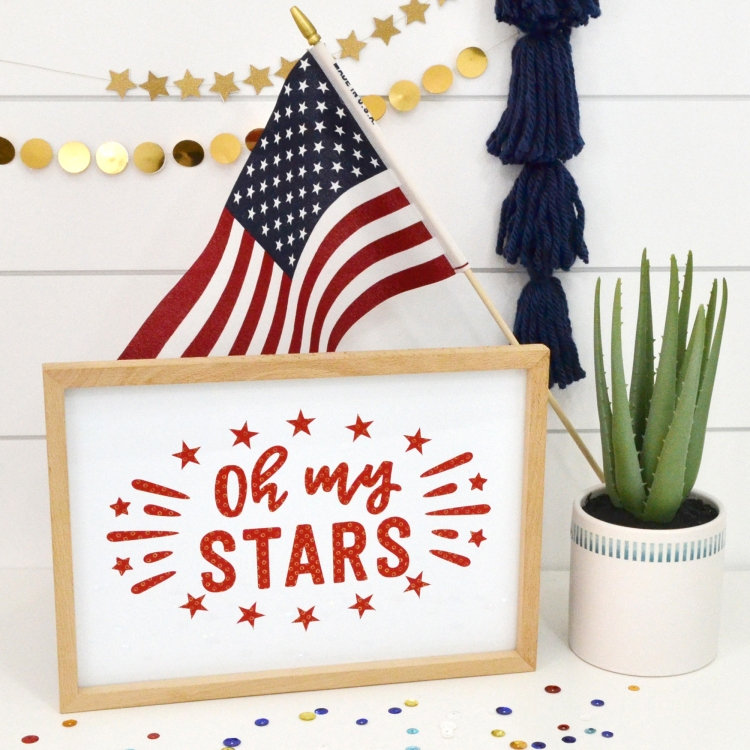 DIY Patriotic Decor with the Foil Quill by Aly Dosdall for We R Memory Keepers