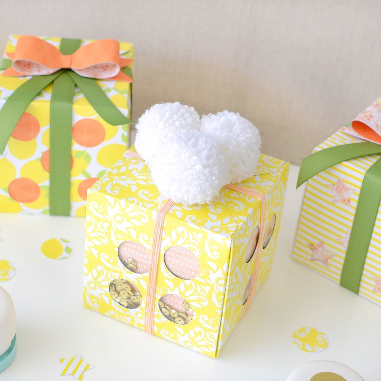 Peekaboo Gift Boxes with the Mini Clear Cut Punches by Rebecca Luminarias for We R Memory Keepers