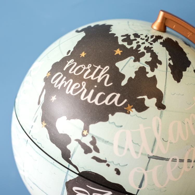 Travel Globe featuring the Freestyle Pens by We R Memory Keepers