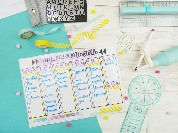 Back To School Erasable Timetable by Soraya Maes-1