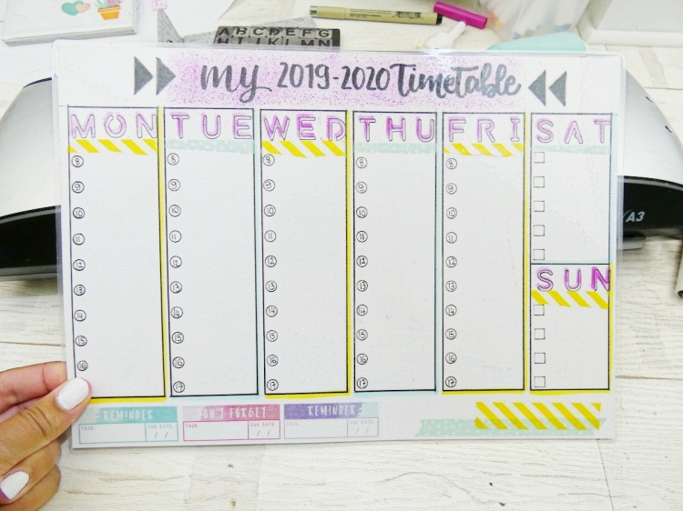 Back To School Erasable Timetable by Soraya Maes-21