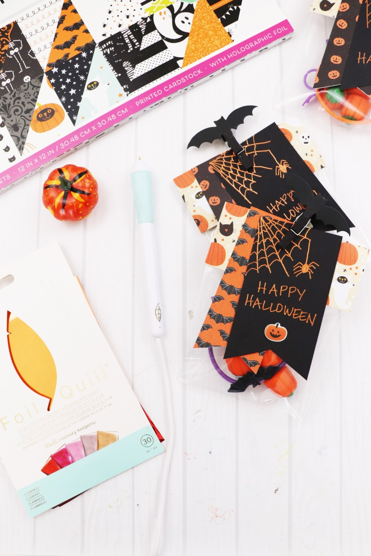 Halloween Party Favors by Laura Silva for We R Memory Keepers featuring the Foil Quill Freestyle Pens