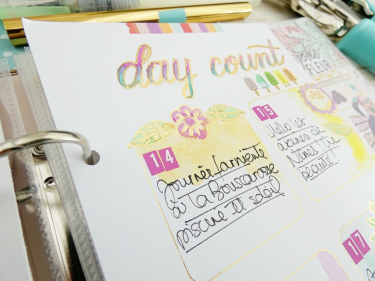 How to make a planner spread with the Foil Quill by Soraya Maes for We R Memory Keepers