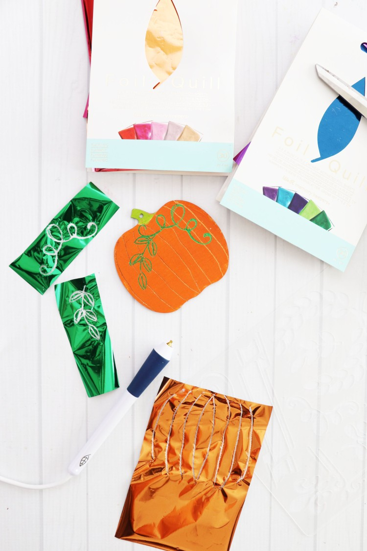 Foil Quill Freestyle Pen Pumpkin Ornaments by Laura Silva for We R Memory Keepers