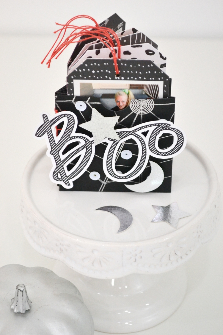 Halloween Mini Album with the Foil Quill by Aly Dosdall for We R Memory Keepers 5