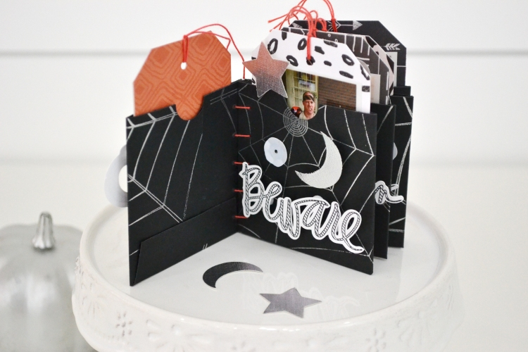 Halloween Mini Album with the Foil Quill by Aly Dosdall for We R Memory Keepers 7
