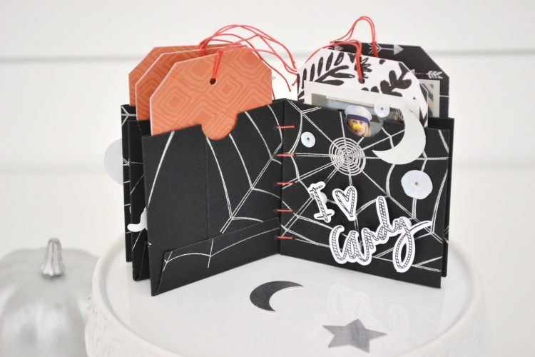 Halloween Mini Album with the Foil Quill by Aly Dosdall for We R Memory Keepers 9
