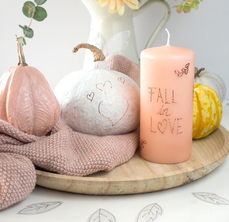 Foil on your Fall Decor with the Freestyle Pen by Steffi Ried for We R Memory Keepers
