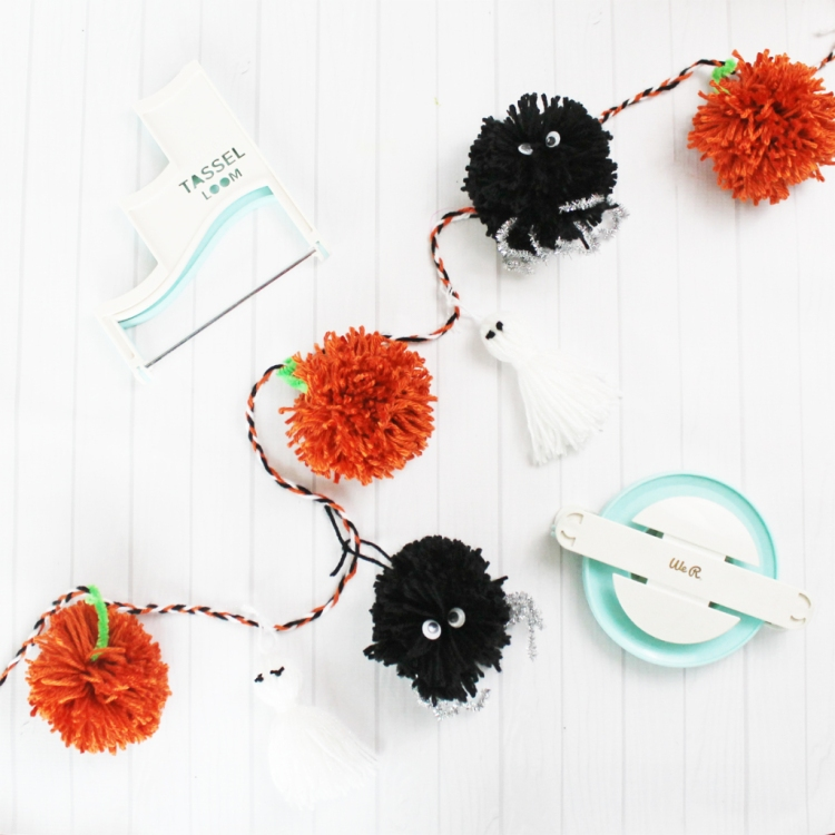 Halloween Pom Pom and Tassel Garland by We R Memory Keepers