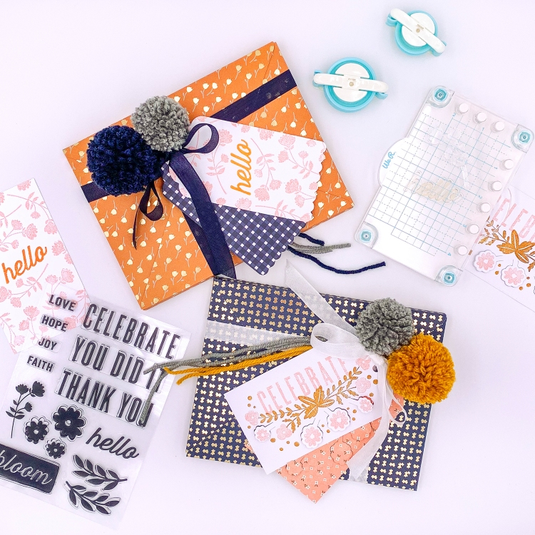 Make DIY Gift Wrap with Your Stamps by Rebecca Luminarias for We R Memory Keepers