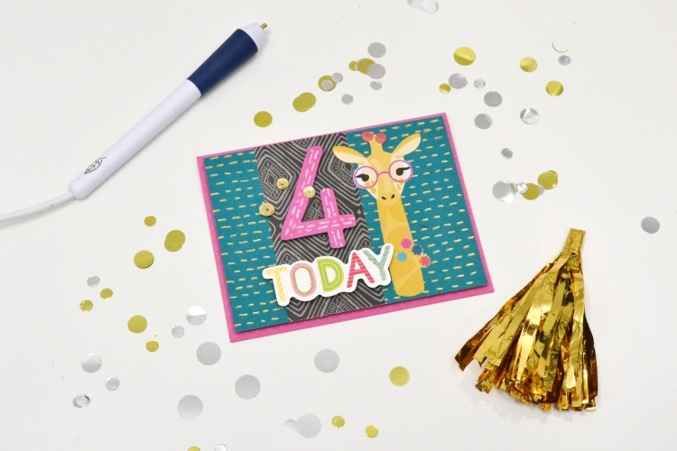 Gold Foil Handmade Card with the Freestyle Pens by Aly Dosdall for We R Memory Keepers