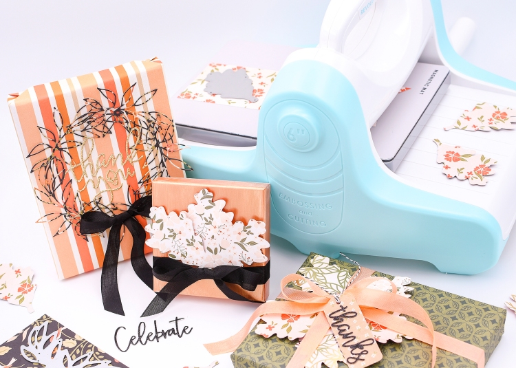 DIY Gift Wrap with the Revolution by Rebecca Luminarias for We R Memory Keepers