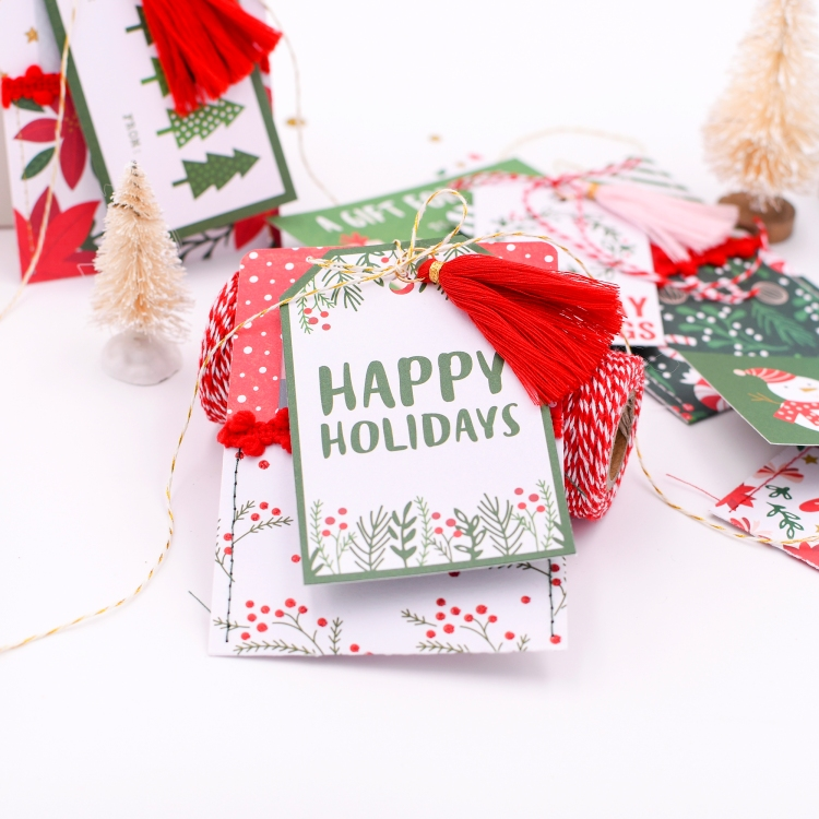 Holiday Gift Card Pockets by Rebecca Luminarias for We R Memory Keepers