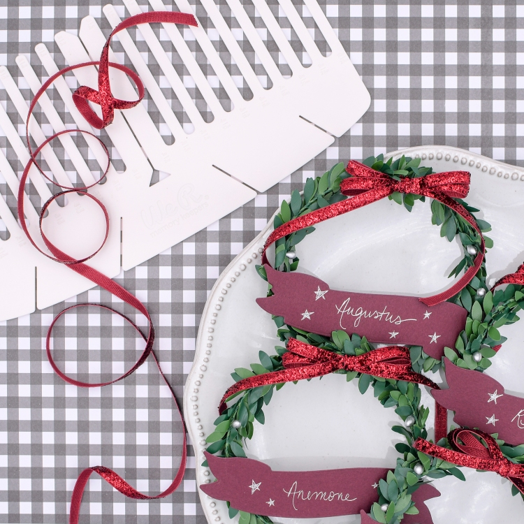 Holiday Place Cards with the Foil Quill Freestyle Pens by Rebecca Luminarias for We R Memory Keepers